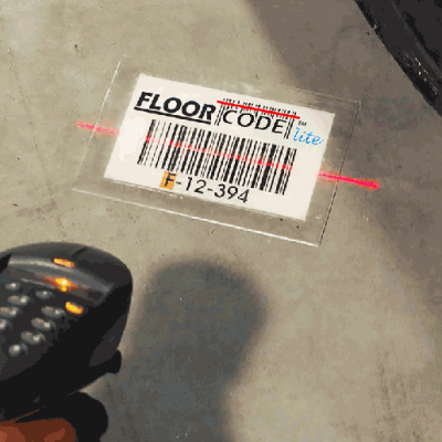 Scanning tough FloorCode Lite Labels